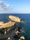 Zafer Burnu Η ανατολικότατη άκρη της Κύπρου Χερσόνησος Karpaz, Κύπρος κινητή φωτογραφία Στοκ εικόνες με δικαίωμα ελεύθερης χρήσης