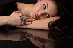 Zaffiro e monili del diamante Immagine Stock Libera da Diritti