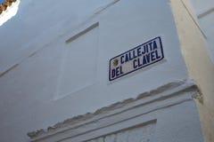 Zafra Callejita Del Clavel ulica w Extremadura Obraz Stock