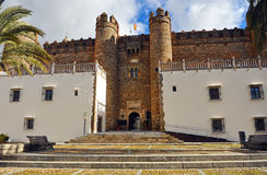 Zafra, Castle of the Dukes of Feria, Extremadura, Spain Royalty Free Stock Images