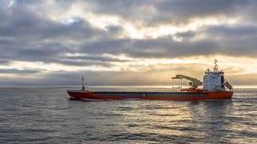 Zafrachtowania wysyłają na Północnym morzu obraz royalty free