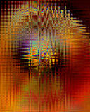 Zag blur. Abstract zigzags of color on orange Stock Photo