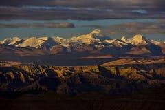 Zagabria nel Tibet la montagna della neve del sole di mattina Fotografia Stock