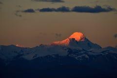 Zagabria nel Tibet la montagna della neve del sole di mattina Fotografie Stock