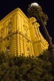 Zagabria - vecchio teatro Fotografie Stock Libere da Diritti