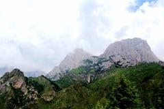 Zagana , A Tibetan village surrounded by mountains Royalty Free Stock Photos