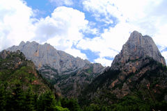Zagana , A Tibetan village surrounded by mountains Royalty Free Stock Photo