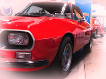 Zagato rode kleur van Lancia Fulvia Royalty-vrije Stock Foto's