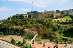 Zagnos Vadisi kasztel w Trabzon i park, Turcja obraz stock