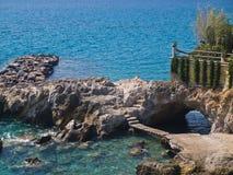 zagorod de plage d'Agio-Nikolaos image libre de droits