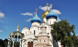 Zagorsk Moscow. A beautiful church with the bright day Stock Photo