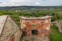 Zagorz podkarpackie/Polen - April, 29, 2019: F?rst?rd kloster i Centraleuropa F?rd?rvar av den historiska templet royaltyfri bild