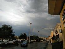 Zagrażać chmura deszcz obrazy stock