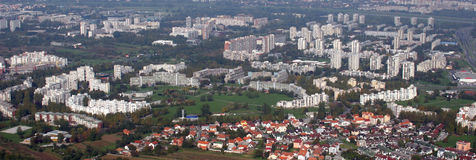 Zagreb. Aerial view of Zagreb, the capital of Croatia Stock Image