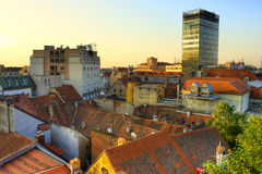 Zagreb. View of Zagreb early in the morning Royalty Free Stock Photo