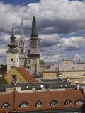 Zagreb. Croatia - city view with St Stephen cathedral Stock Images