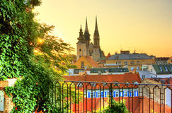 Zagreb. Majestic view of Zagreb, Croatia Stock Photography
