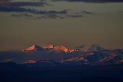 Zagreb aan Tibet de de Sneeuwberg van de ochtendzon royalty-vrije stock fotografie