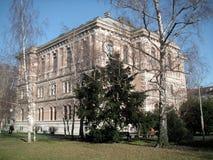 Zagreb: Academie van Wetenschappen   Stock Afbeeldingen