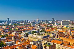Zagreb aerial skyline rooftops view Stock Photo