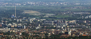 Zagreb - Aerial view Royalty Free Stock Photo