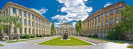 Zagreb architecture panoramic view, Croatia Stock Image