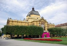 Zagreb - Art pavilion. Classic architecture in Zagreb, Croatia, Europe Stock Photos