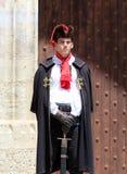 Zagreb atrakcja turystyczna, Cravat pułku członek/ zdjęcie royalty free