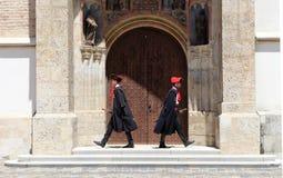 Zagreb atrakcja turystyczna, pułk, ceremonia/Cravat/ Fotografia Royalty Free