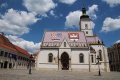 Zagreb/Besichtigung/St Mark Kirche Lizenzfreies Stockfoto