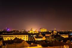 Zagreb bij nacht royalty-vrije stock foto's