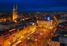 Zagreb & Blur Hour Stock Photos