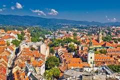 Zagreb, Capital of Croatia aerial view Stock Photos