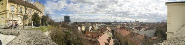 Zagreb, capitale croate Photos libres de droits