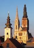 Zagreb, catedral na Croácia Foto de Stock