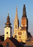 Zagreb, cathedral in Croatia Stock Photo