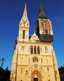 Zagreb, cathedral in Croatia Royalty Free Stock Images