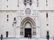 Zagreb Cathedral. Entrance Stock Images