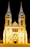 Zagreb Cathedral at night, Croatia Royalty Free Stock Photos