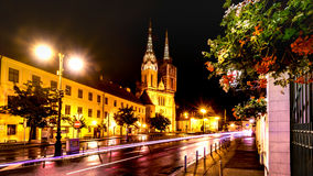 Zagreb Cathedral night Stock Photography