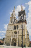 Zagreb Cathedral. One of the highests buildings in Croatia and touristic place from Zagreb, Croatia Stock Image