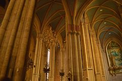 Zagreb cathedral's columns Royalty Free Stock Image