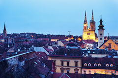 Zagreb Cathedral and St. Catherine Church Royalty Free Stock Images