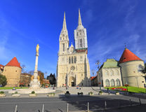 Zagreb cathedral Royalty Free Stock Images