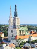 Zagreb Cathedral view Royalty Free Stock Photo