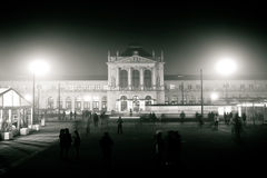 Zagreb central station black and white view Stock Photography