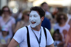 Zagreb/Cest är det bästa/clownen Face Expression Arkivfoton
