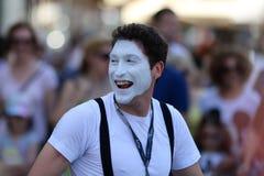 Zagreb/Cest es los mejores/el payaso Face Expression Fotos de archivo