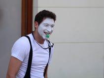 Zagreb/Cest zijn Best/de Clown With Green Whistle royalty-vrije stock afbeeldingen