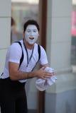 Zagreb/Cest zijn Best/de Clown Preparing For The toont Stock Foto